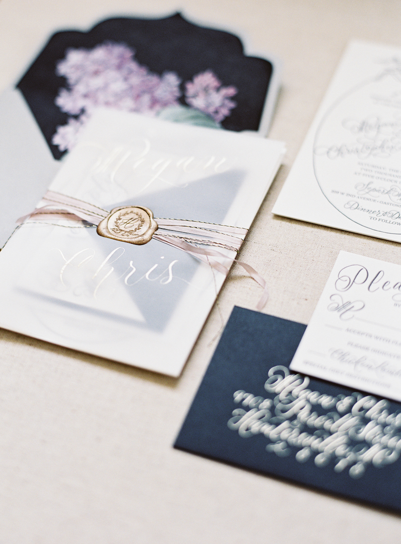 Delighted Calligraphy Wedding invitation