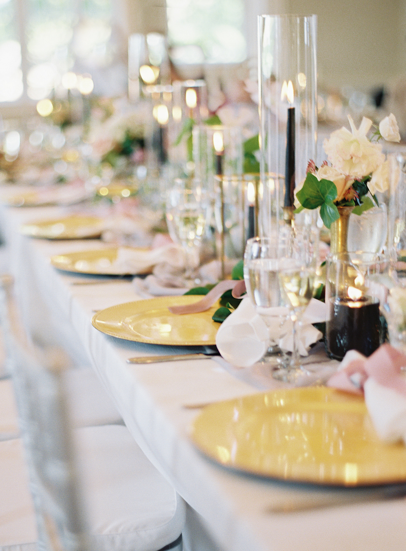 Delighted Calligraphy wedding Head table