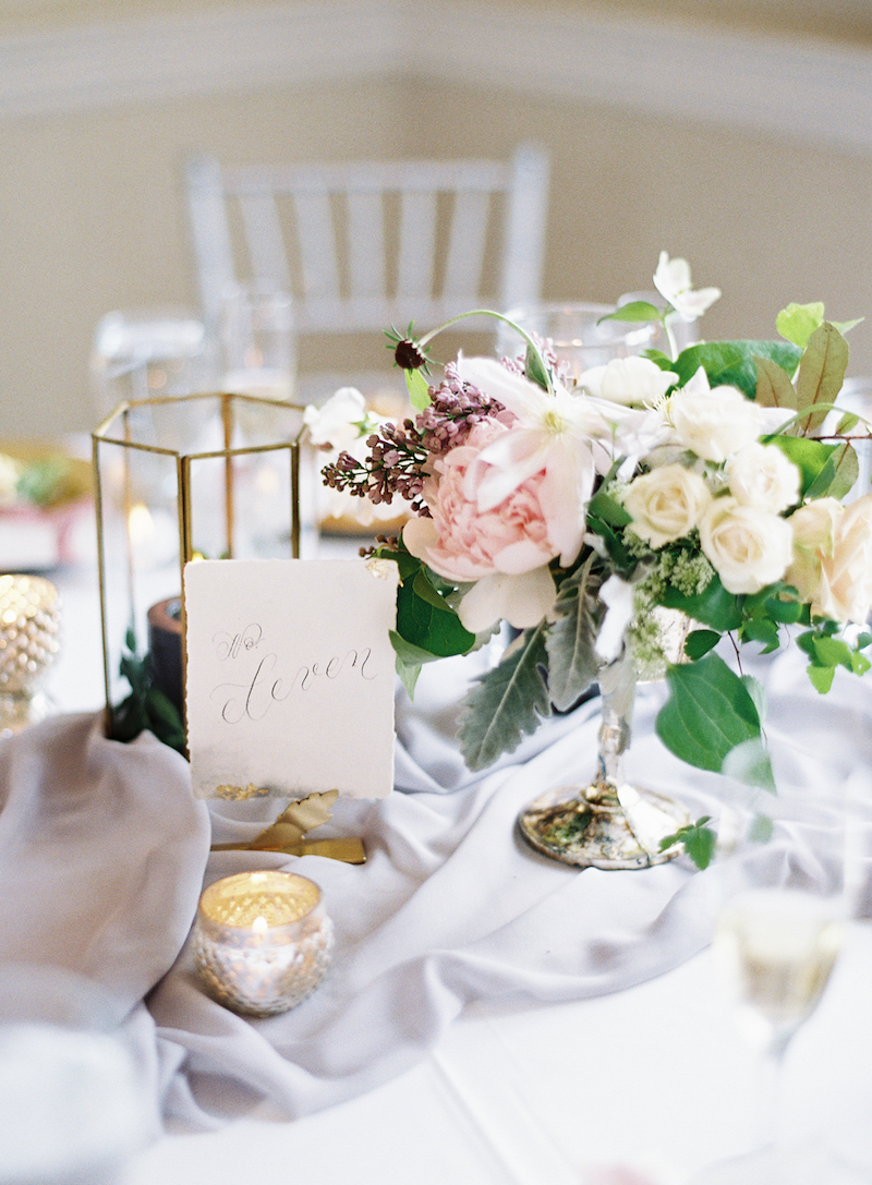 Delighted Calligraphy wedding table