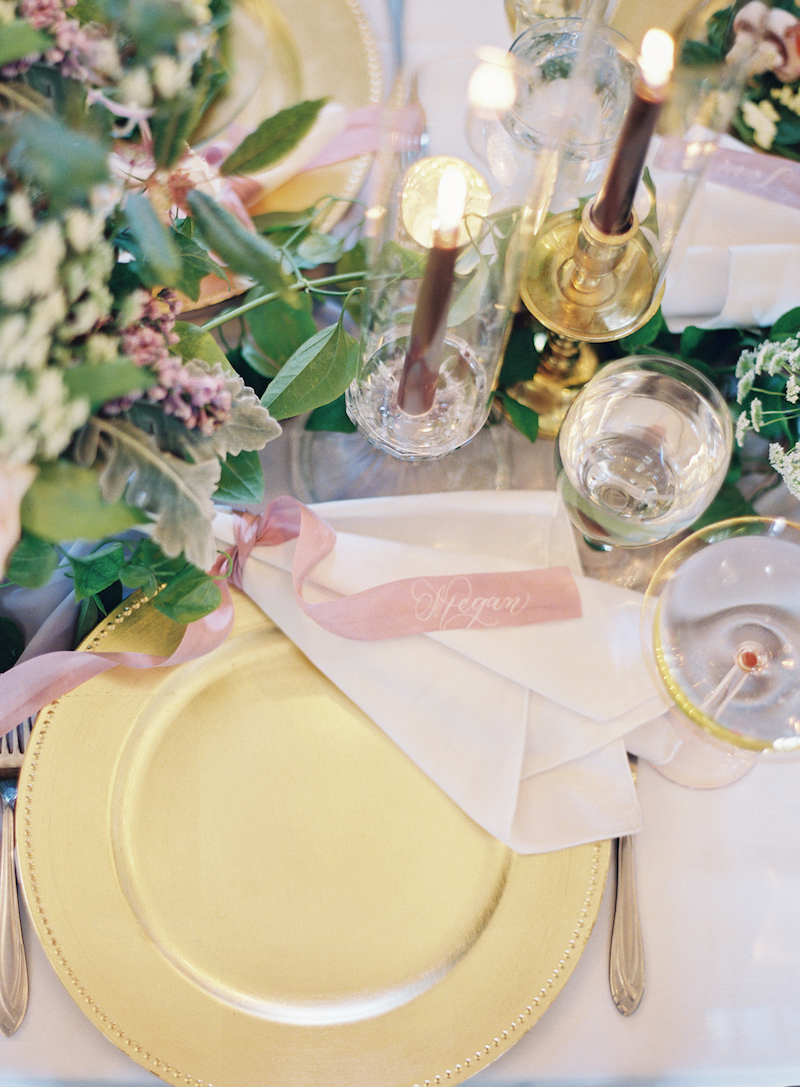 Delighted Calligraphy wedding place setting