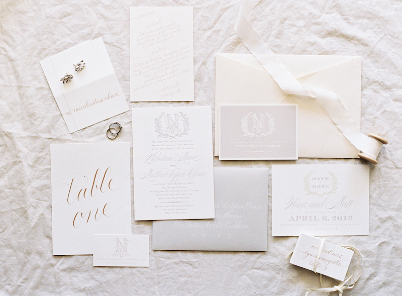Delighted Calligraphy- Duke Mansion wedding invite