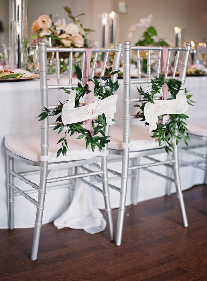 Delighted Calligraphy wedding sweetheart seats