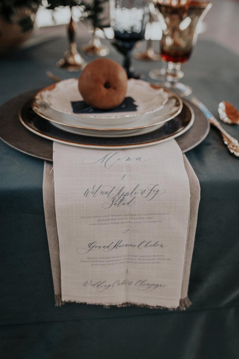 linen menu